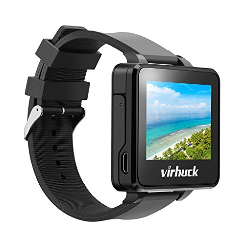"""Virhuck T909 2"""" TFT LCD FPV Monitor Watch 5.8GHz 32CH, Wireless Receiver with 3dBi Built-in Antennafor for Spotter, RC Drone Racer (not Suit for DJI), Black"""
