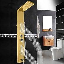 VEVOR 5-in-1 douchezuil, roestvrij staal, regendouche, hydromassage, waterval, handdouche voor thuis of hotel (14 x 45 x 1...