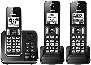 Panasonic KX-TG163K Dect 6.0 3 Handset Landline Telephone (Renewed)
