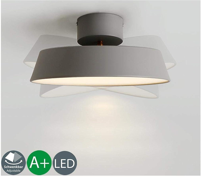 Modernen Einfaches LED Deckenleuchten Mode Kreative Rund grauem Metall Korridor Deckenlampe Einstellbarer Beleuchtungswinkel hoher Qualitt Design Persnlichkeit Lampenkrper Eisen+Acryl 30CM