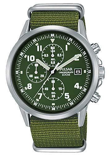 Pulsar - Orologio cronografo da uomo in stile militare PM3127X1,...