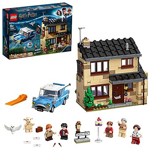 LEGO75968HarryPotterNúmero4dePrivetDriveJuguetedeConstrucciónparaNiños+8añosconFordAngliay6MiniFiguras