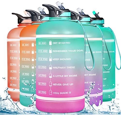 ZOMAKE Botella de Agua 3,78 l para Ciclismo, Viajes y Diario