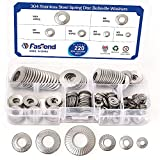 220PCS Metric M3 to M10 304 Stainless Steel Conical knurled Spring Washer Belleville Washer Assortment Kit