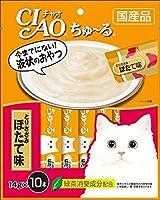 (まとめ買い)いなばペットフード CIAO ちゅ~る とりささみ ほたて味 14g×10本入り SC-126 猫用 【×8】