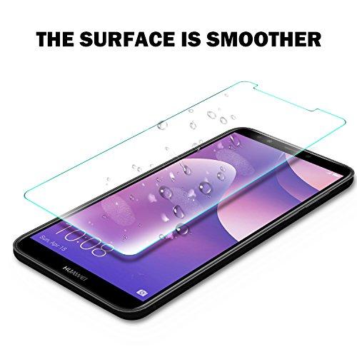 KuGi Huawei Y7 2018 Schutzfolie, 9H Panzerglas Hartglas Glas Display Schutzfolie [Blasenfrei] [HD Ultra] [Anti-Kratzer] Displayschutz Für Huawei Y7 2018 / Prime 2018 Smartphone. Klar [2 Pack] - 6