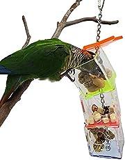 Ptak wisząca żywność, zdejmowana 23 x 5,5 x 5,5 cm trudny do złamania ptak wiszący zabawka do jedzenia, wisząca skrzynka na paszę, dla papugi domowych ptaków