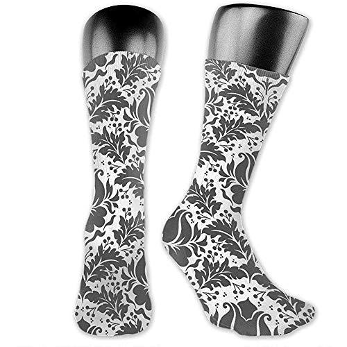 lucies Calcetines para hombre/mujer de 40 cm, textura de papel tapiz sin costuras Unisex Moda transpirable Athletic Running Crew Calcetines Casual Travel Stocking