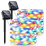 Guirnaldas Luces Exterior Solar, PVC Led Solares Exteriores Jardin con 240 LED Y 8 Modos Cadena de...