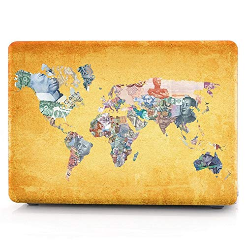 For Macbook Pro 13 Inch Case A1708 World Map Clear Matte Hatd Laptop Cover For Apple Mac Book 13.3'' A1278 A1502 A2159 2019 Case