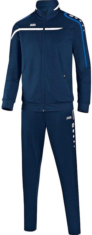 JAKO Fuball Trainingsanzug Performance Herren Sportanzug Jacke Hose Marine wei blau