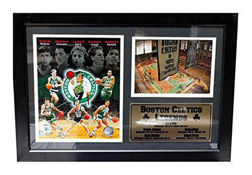 Encore Select 127-02 NBA Boston Celtics Framed Legends Larry Bird Print, 12-Inch by 18-Inch image