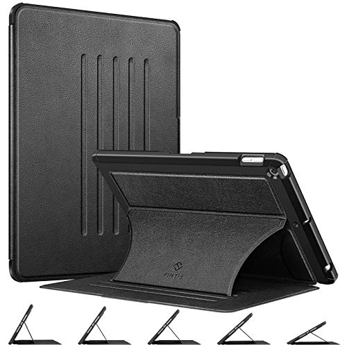 Fintie Magnetic Stand Case for iPad 9th / 8th / 7th Generation (2021/2020/2019) 10.2 Inch, [Multiple Secure Angles] Shockproof Rugged Soft TPU Back Cover, Auto Wake/Sleep, Black