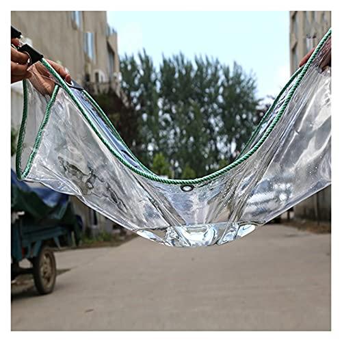 AWSAD Lonas Impermeables Exterior Cortina Lluvia PVC, Lonas Lona Cubierta Cobertizo Invernadero Hoja Toldo Transparente por Durable Resistencia al Desgarro (Color : Clear, Size : 4Mx5M)
