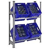 Getränkehalter, 1000 x 810 x 300 mm, 2 Ebenen, maximale Tragkraft 100 kg, Grau