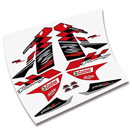 Kit Pegatinas CARENADO Completo para Moto RIEJU RS2 MATRIS Adhesivos VINILOS (Color Rojo)