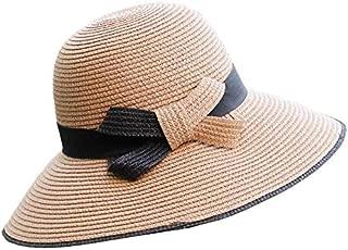 Hat Straw hat Women's Girls Sun Hat ndash; Ultra-Lightweight Beach Hats Modern Style Sun hat Panama hat (Color : Pink, Size : 56-58cm) (Color : Brown, Size : 56-58cm)