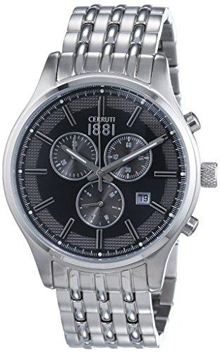 Cerruti 1881 Herren-Armbanduhr VARESE Analog Quarz Edelstahl CRA115SN02MS