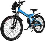 Oppikle Vélo de Montagne électrique Vélo de Ville électrique de 26 Pouces pour Adultes, 250W et Batterie au Lithium 3 V 8Ah Vélo électrique pour navetteurs