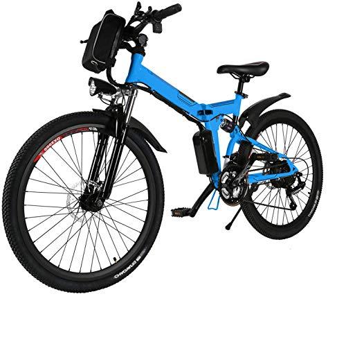 fiugsed Faltbares E-Bike,36V 250W Elektrofahrräder, 8A Lithium Batterie Mountainbike,26 Zoll Große Kapazität Pedelec mit Lithium-Akku und Ladegerät (3)