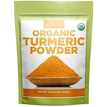 Organic Turmeric Powder Curcumin 500Grams - Nutracare Organics 100% Pure USDA Certified Organic Turmeric Root Powder with High Curcumin - Raw from India