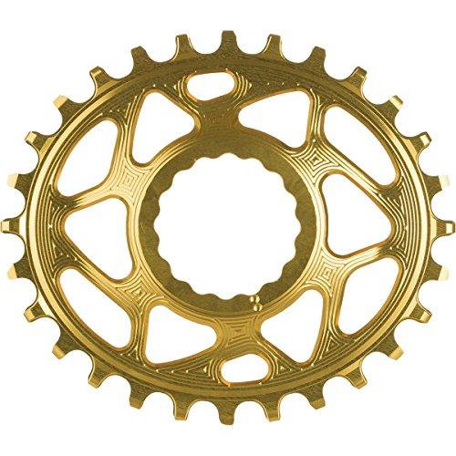 Absolute schwarz Race Face Oval Cinch Direct-Mount Traktion Kettenblatt, gold