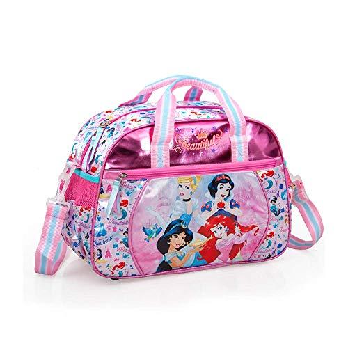 Borsone Principesse Disney Cenerentola Jasmine Biancaneve Ariel Borsa da Viaggio Palestra Bambina CM.38X27X17-10819