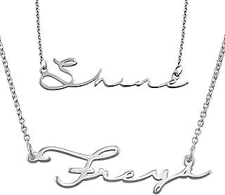 handwritten jewelry sterling silver