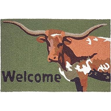 Jellybean Longhorn Welcome Accent Rug