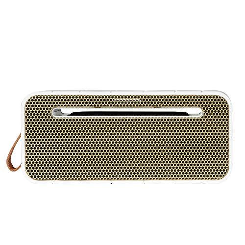 KREAFUNK aMOVE - Altavoz Bluetooth y AUX inalámbrico portátil pequeño y compacto con 20 horas de reproducción, micrófono incorporado y batería externa