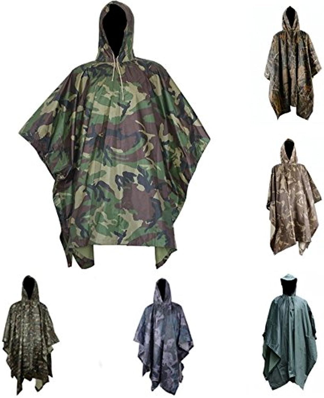 Multifunctional Camouflage Raincoat Outdoor Travel Raincoat Cycling Camouflage Poncho