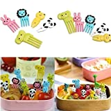 Tenedor de Fruta Animal para Niños Mini Plástico Bento Picks Fruit Fork palillo de comida de...