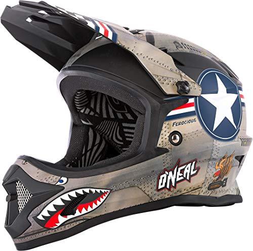 O'NEAL Backflip Wingman DH Fahrrad Helm Metal/weiß 2020 Oneal: Größe: S (55-56cm)