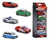 Majorette - Set 5 Pièces - Voitures Miniatures en Métal - Coffret 5 Véhicules Street Cars -...