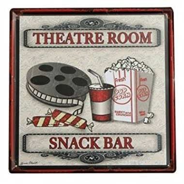 UR Home Decor metal tin signTheater Snack Bar Tin Sign Vintage Metal Plaque Poster Bar Pub Home Wall Decor