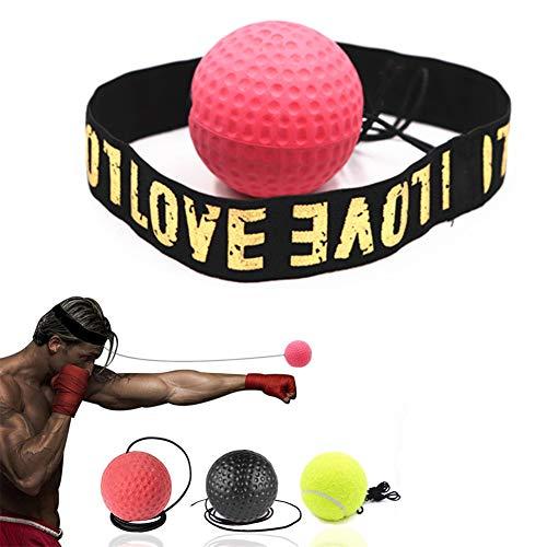 Boxball Boxing Reflex Ball Box eine Ball Boxen Ball Stirnband Boxen Stirnband Ball Boxen Zubehör Boxing Training Punchball Erwachsene 3balls,Free