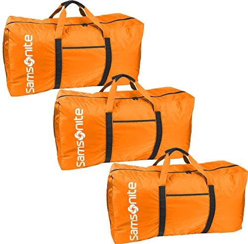 Samsonite Tote-A-Ton 32.5-Inch Duffel Bag, Orange, 3-Pack