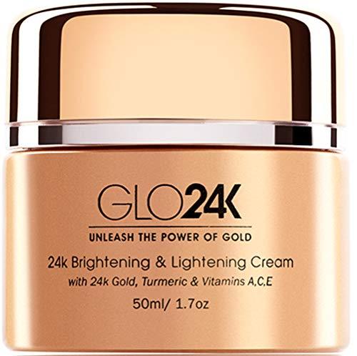 GLO24K Crema schiarente e schiarente con oro 24k, curcuma e vitamine A, C, E