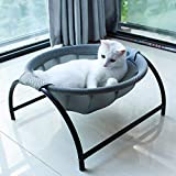 Cat Bed Dog Bed Pet Hammock Bed Free-Standing Cat Sleeping Cat Bed Cat Supplies Pet Supplies Whole Wash Stable Structure Detachable Excellent Breathability Easy Assembly Indoors Outdoors (Gray)