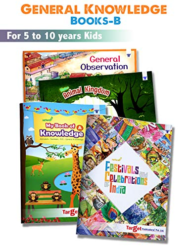 General Knowledge Books for Kids in English | 5 to 10 Year Old Children | GK Encyclopedia | Learn about Animals, Festivals of India, Our Surrounding and much more with Activities | Set B of 4