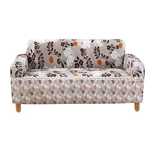 TaoShu - Funda de sofá de 3 plazas, diseño de flores europeas, funda de sofá, salón, decoración para lavables, para animales de compañía, sofá, cojín, 190 x 230 cm, 74 x 90 pulgadas