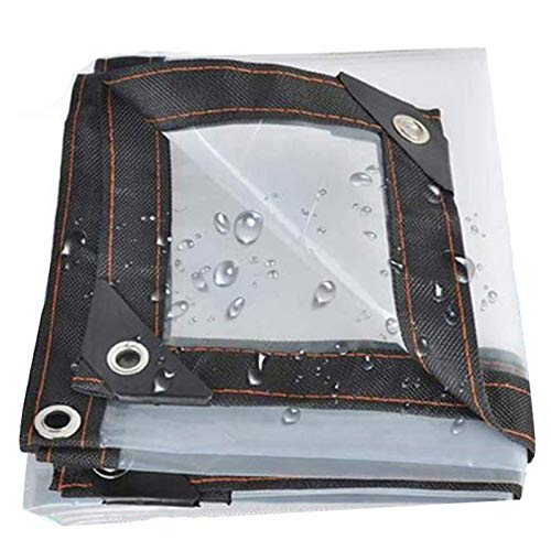 TRITTHOCKER Transparentes wasserdichtes Tuch, gebraucht für Garten, Gewächshaus, Swimmingpool, Balkonanlagenmarkise,2x7m