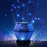 Star Night Lights for Kids - Star Projector with USB Cable, 360°Rotating Planet Night Lighting Lamps Sky Galaxy Constellation Projection for Baby Bedrooms - 5 Sets of Film