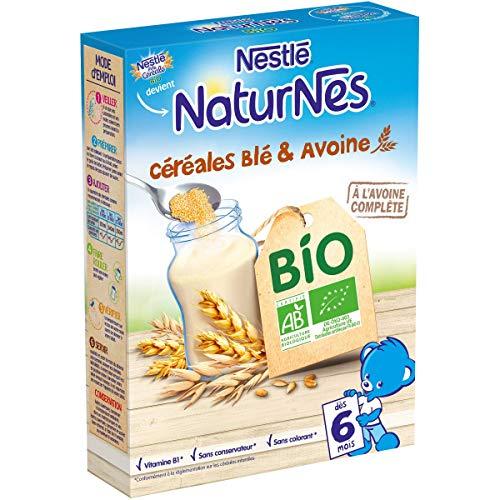 Nestlé Bébé P'tite Céréale Bio Blé Avoine Céréales déshydratées dès 6 mois Boîte de 240g - Lot de 6