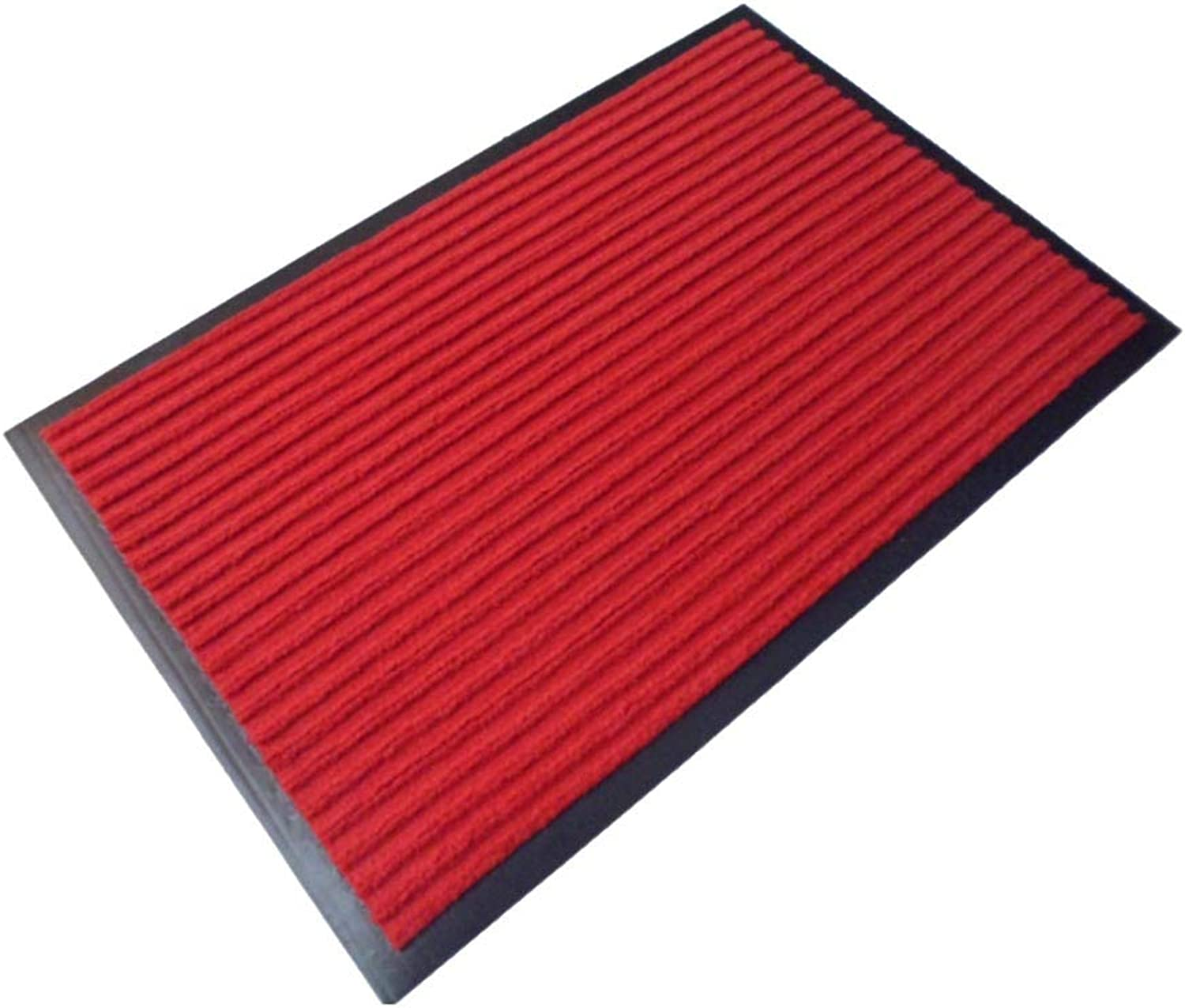 Door mat,Indoor Outdoor mats Front Entrance Door mat Carpet Door mat Bedroom Bathroom Non-Slip Kitchen Rug-red 60x90cm(24x35inch)