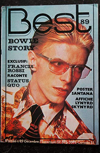 BEST 089 DECEMBRE 1975 COVER DAVID BOWIE STORY STATUS QUO ROXY MUSIC DICK RIVERS POSTER SANTANA LYNYRD SKYNYRD