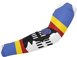 BJAMAJ Grote Vlag Kaart Van Swaziland UV Bescherming Koeling Arm Mouwen Arm Cover Zonwering Voor Mannen & Vrouwen Jeugd Pr...