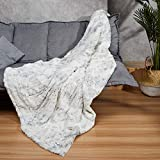 WOOMER [New] 50'x 60' Electric Heated Throw Blanket for Fast Heating, Over-Heat Protect, ETL Certification, 4 Heating Levels & 4 Hours Auto Off, Home/Office Use & Machine Washable, 100% Soft Faux Fur