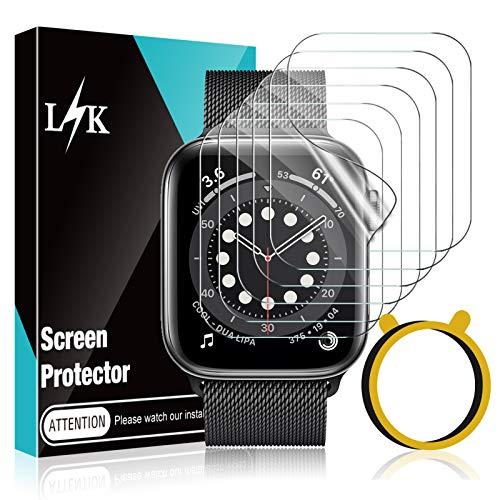 LϟK 6 Pezzi TPU Pellicola Protettiva per Apple Watch Series 6 5 4 SE 40mm - Senza Bolle Trasparente HD Schermo Protettivo con Kit D Installazione