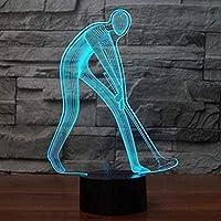 giyiohokスーパーマリオ3D目の錯覚ナイトライトギフトおもちゃの装飾7RGB色ベッドサイドランプタッチ調節可能な明るさの誕生日ギフトの装飾男の子の女の子の子供のための-Ga725-N36-N38